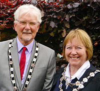 Mayor David Simcock and Mayoress Penny Simcock