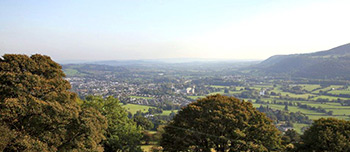 Monmouthshire - mountain view of Abergavenny