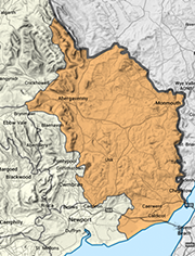 Monmouthshire map